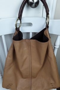 Lucky Brand Leather Slouched  Hobo
